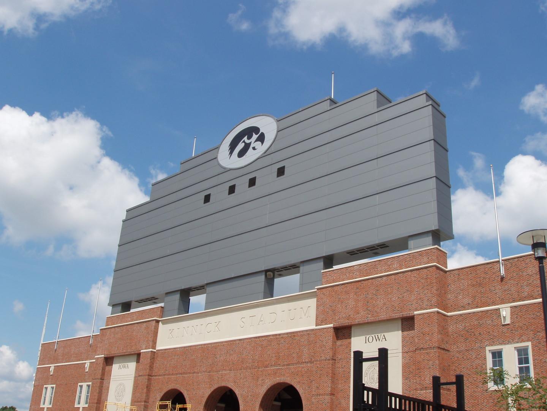 University of Iowa Kinnick Stadium Scoreboard (Iowa City)